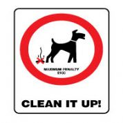 Prohibition safety sign - Clean it Up 155